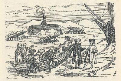 Barents in the Arctic: Hut Wherein We Wintered, 1912-Gerrit de Veer-Giclee Print