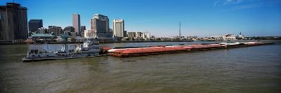 Barge in the Mississippi River, New Orleans, Louisiana, USA--Photographic Print
