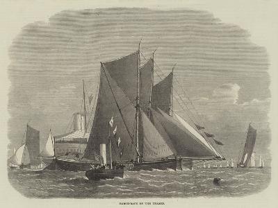 Barge-Race on the Thames-Edwin Weedon-Giclee Print