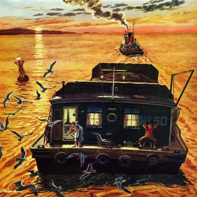 """Barges"", April 6, 1957-Ben Kimberly Prins-Giclee Print"