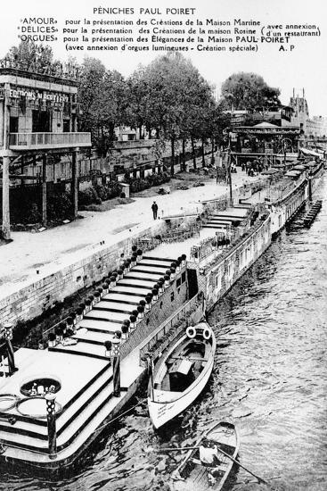Barges of Paul Poiret at the Exposition Des Arts Décoratifs, Paris, 1925--Photographic Print