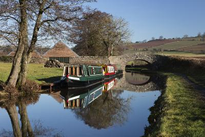 Barges on the Monmouthshire and Brecon Canal-Stuart Black-Photographic Print
