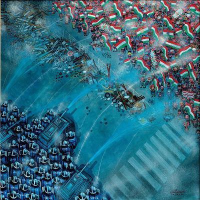 Baricade, 2006-Tamas Galambos-Giclee Print