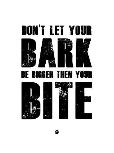 Bark and Bite White-NaxArt-Art Print