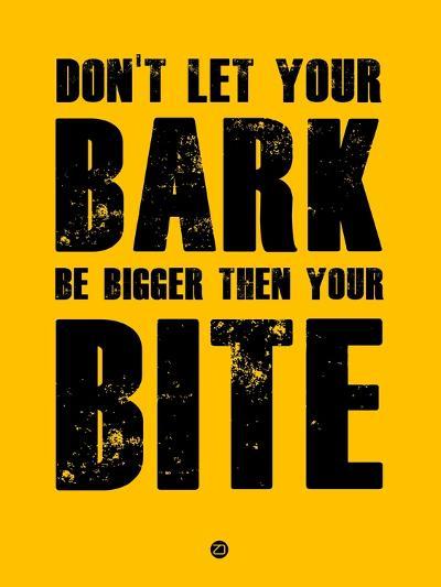 Bark and Bite Yellow-NaxArt-Art Print