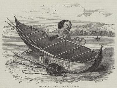 Bark Canoe from Terra Del Fuego--Giclee Print