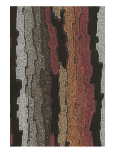 Bark Texture in Various Colors, Abstract Pattern--Art Print