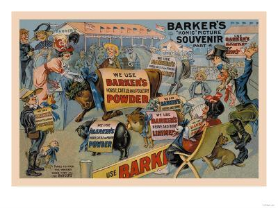 Barker's Horse, Cattle, and Poultry Powder--Art Print
