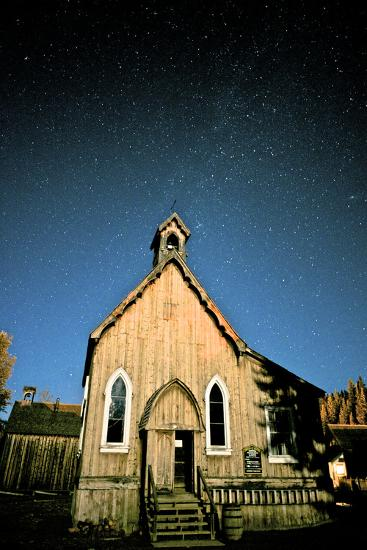 Barkerville at Night. Barkerville Historic Town, Cariboo, British Columbia, at Night-Richard Wright-Photographic Print