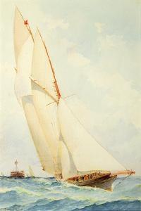 Schooner under Sail by Barlow Moore