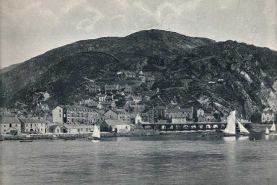 'Barmouth - View from the Mawddach, Showing Heights', 1895-Unknown-Photographic Print