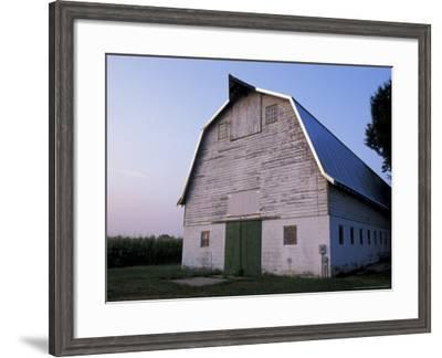 Barn and Corn Field at Chino Farms, Maryland, USA-Jerry & Marcy Monkman-Framed Photographic Print