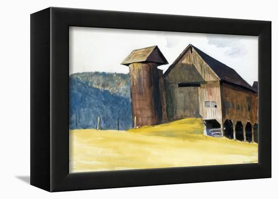 Barn and Silo, Vermont-Edward Hopper-Framed Premier Image Canvas