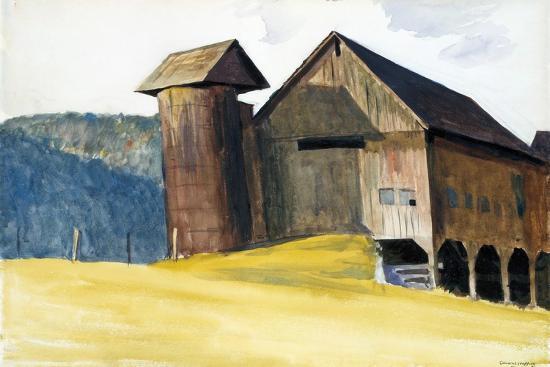 Barn and Silo, Vermont-Edward Hopper-Giclee Print