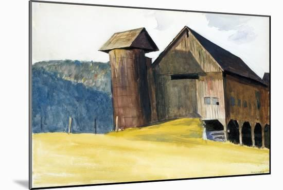 Barn and Silo, Vermont-Edward Hopper-Mounted Giclee Print
