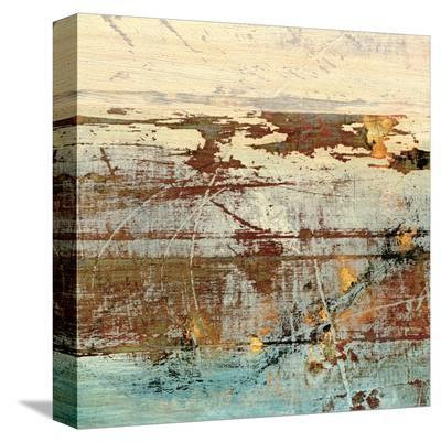 Barn Blue Square II-J^ McKenzie-Stretched Canvas Print