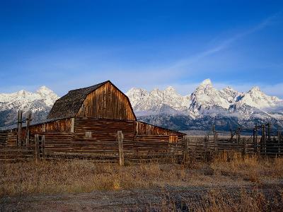 Barn, Grand Teton National Park, WY-Elizabeth DeLaney-Photographic Print