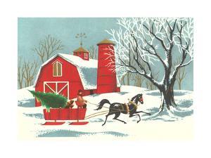 Barn, Horse-Drawn Sleigh