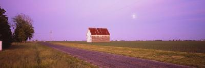Barn in a Field, Illinois, USA--Photographic Print