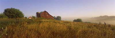 Barn in a Field, Iowa County, Wisconsin, USA--Photographic Print