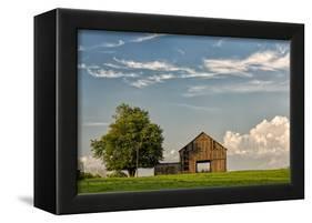 Barn in afternoon light, Kentucky-Adam Jones-Framed Premier Image Canvas