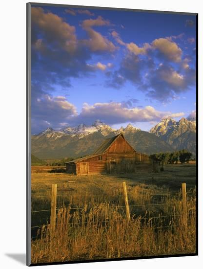 Barn in Historic Homestead Mormon Row-Richard Cummins-Mounted Photographic Print