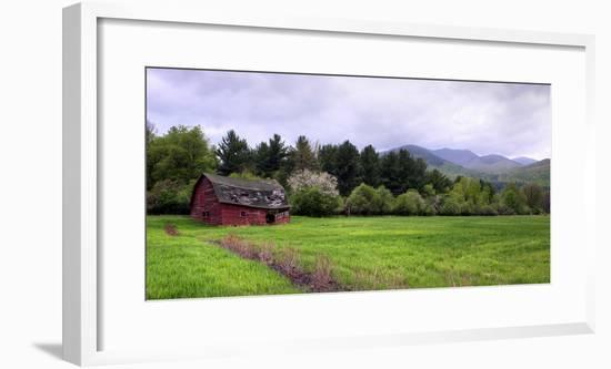 Barn in Keene Valley in Spring Adirondack Park, New York State, USA--Framed Photographic Print