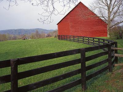 Barn Near Etlan, Virginia, USA-Charles Gurche-Photographic Print