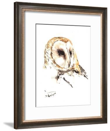 Barn Owl Head-Suren Nersisyan-Framed Art Print