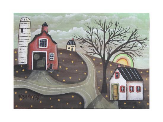 Barn Silo-Karla Gerard-Giclee Print