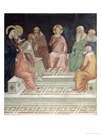 Jesus with the Doctors, from a Series of Scenes of the New Testament