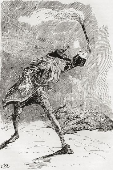 Barnaby Finds Edward.  the Figure of a Man Extended in an Apparently Lifeless State Upon the Pathwa--Giclee Print
