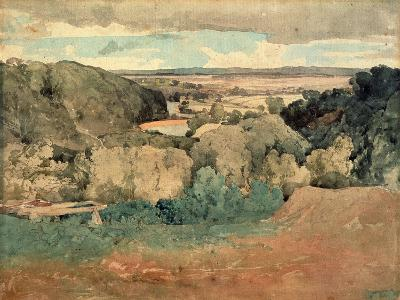 Barnard Castle from Towler Hill-John Sell Cotman-Giclee Print