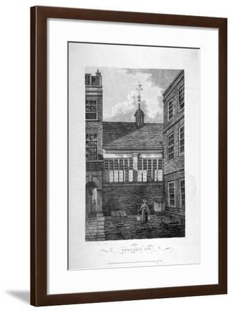 Barnard's Inn, City of London, 1804--Framed Giclee Print