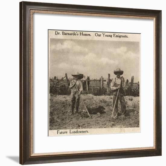 Barnardo's Emigrants in Canada-Peter Higginbotham-Framed Photographic Print