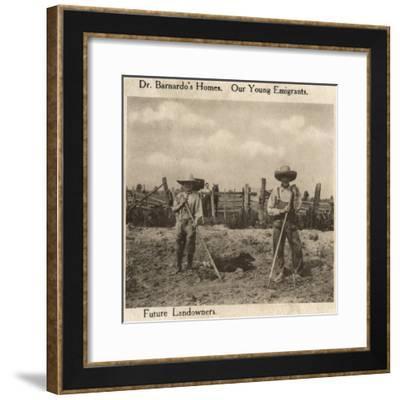 Barnardo's Emigrants in Canada-Peter Higginbotham-Framed Photographic Print