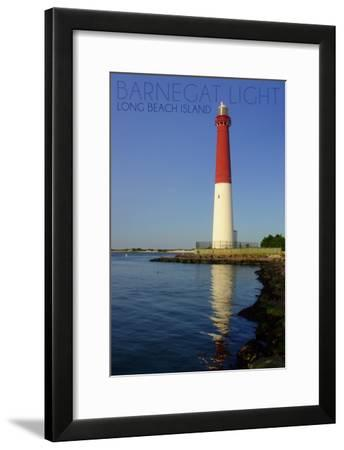 Barnegat Light, New Jersey - Barnegat Lighthouse Close Up-Lantern Press-Framed Art Print
