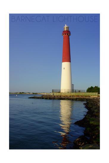 Barnegat Lighthouse Close Up-Lantern Press-Art Print