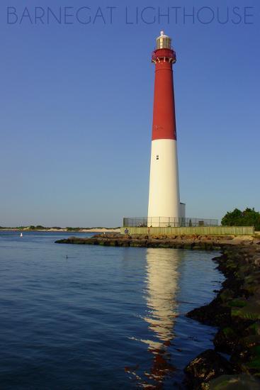 Barnegat Lighthouse Close Up-Lantern Press-Wall Mural