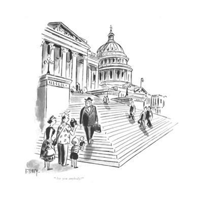 """""""Are you anybody?"""" - New Yorker Cartoon by Barney Tobey"""
