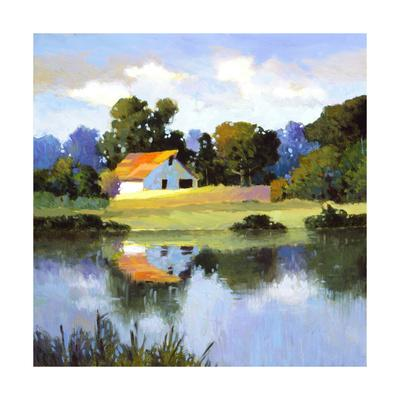 Barns on Greenbrier II-Max Hayslette-Premium Giclee Print