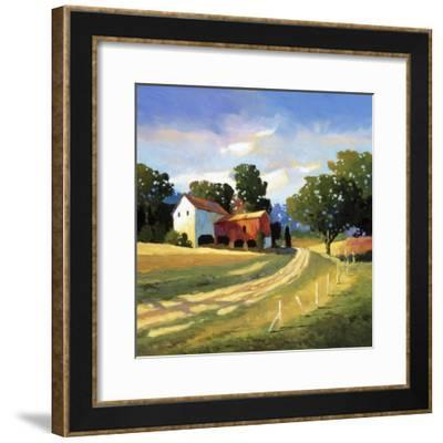 Barns on Greenbrier V-Max Hayslette-Framed Premium Giclee Print