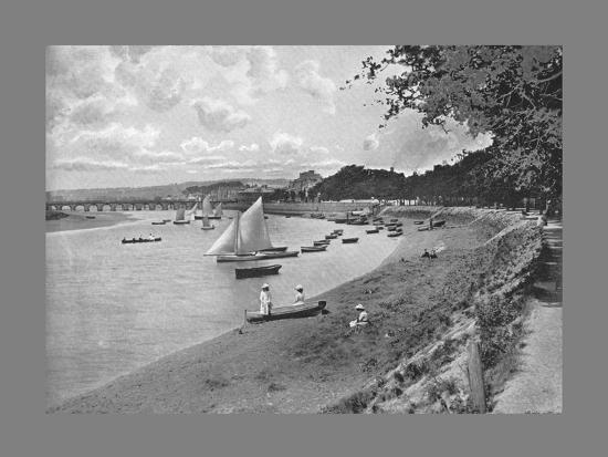 Barnstaple from South Walk, c1900-Vickery Bros-Photographic Print