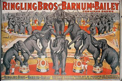 Barnum and Bailey Circus Poster-American School-Giclee Print