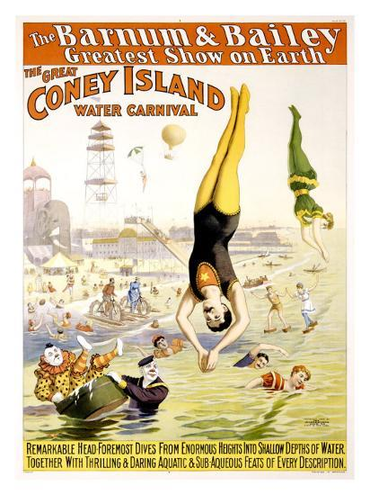 Barnum and Bailey, Coney Island--Giclee Print