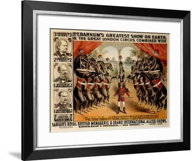 Barnum's Greatest Show on Earth, 1882--Framed Giclee Print