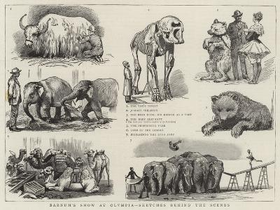 Barnum's Show at Olympia, Sketches Behind the Scenes--Giclee Print