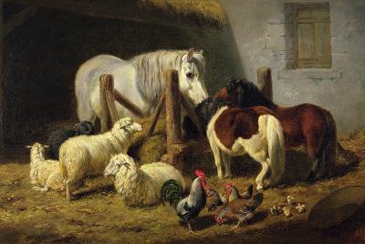 Barnyard, 1860-Arthur Fitzwilliam Tait-Giclee Print
