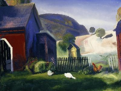 Barnyard and Chickens, 1924-George Wesley Bellows-Giclee Print