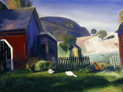 Barnyard and Chickens-George Wesley Bellows-Giclee Print